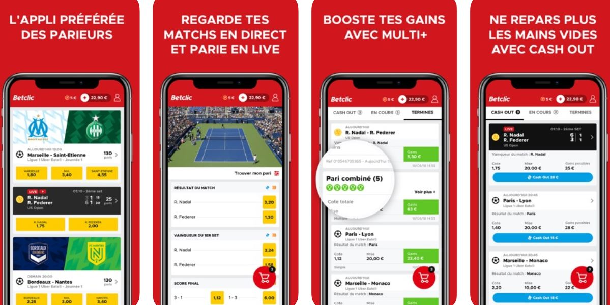 application mobile betclic avis