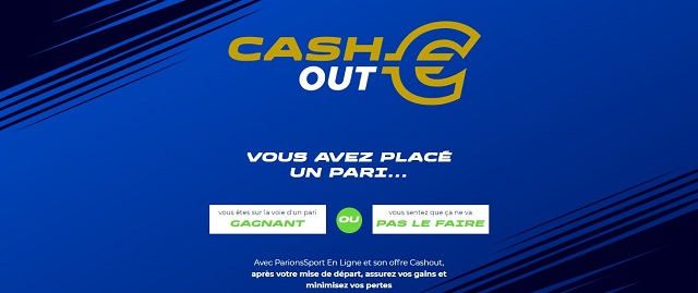 cash out Parions Sport en Ligne