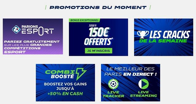 promotions Parions Sport en Ligne