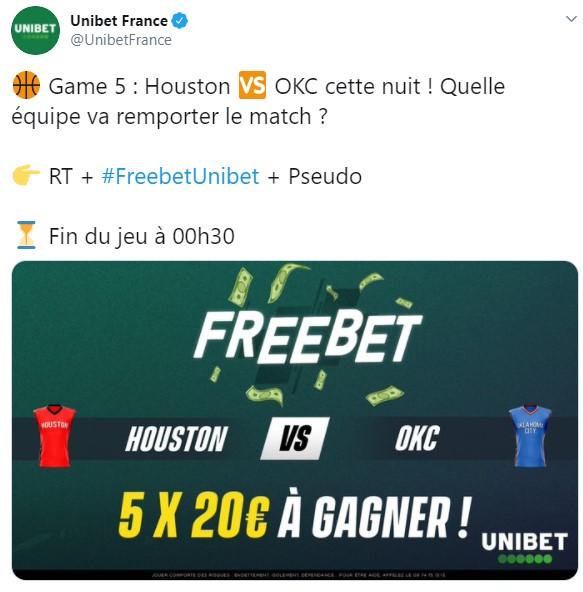 freebet Twitter Unibet