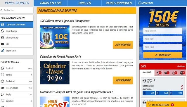 promotions france pari sportif